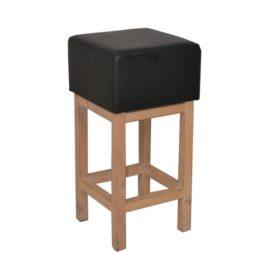 Gerlof event meubilair kruk eiken zwart